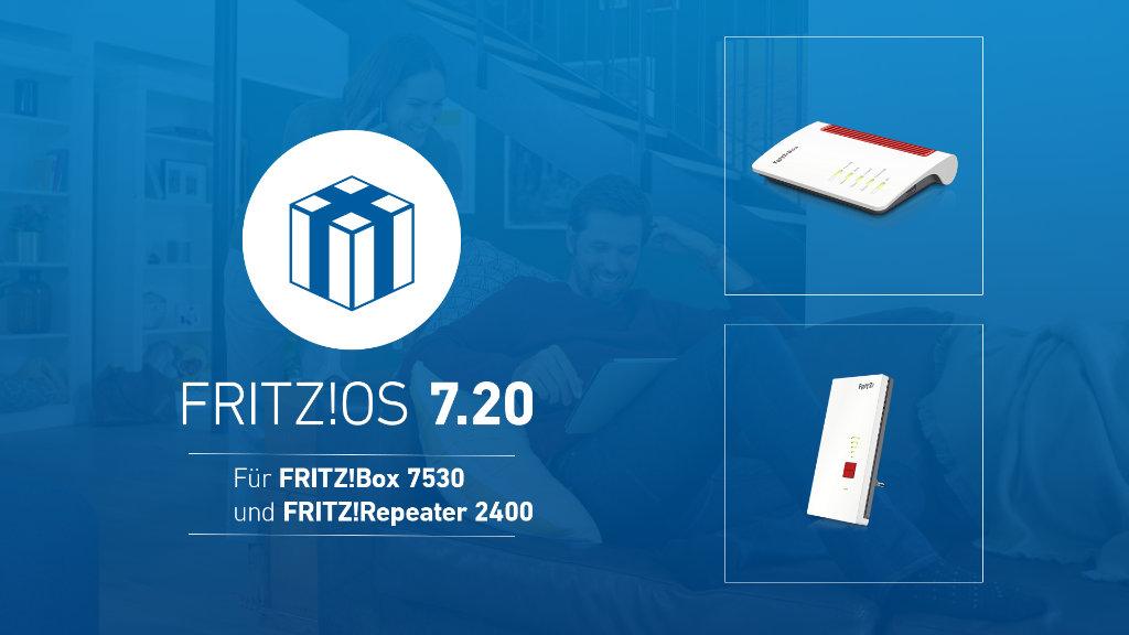 AVM veröffentlich FRITZ!OS 7.20 für weitere FRITZ!Box-Modelle und den Repeater 2400