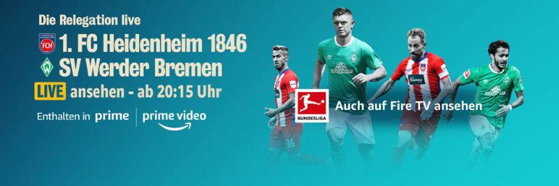 Regelation Live schauen mit Prime Video - Heidenheim gegen Bremen