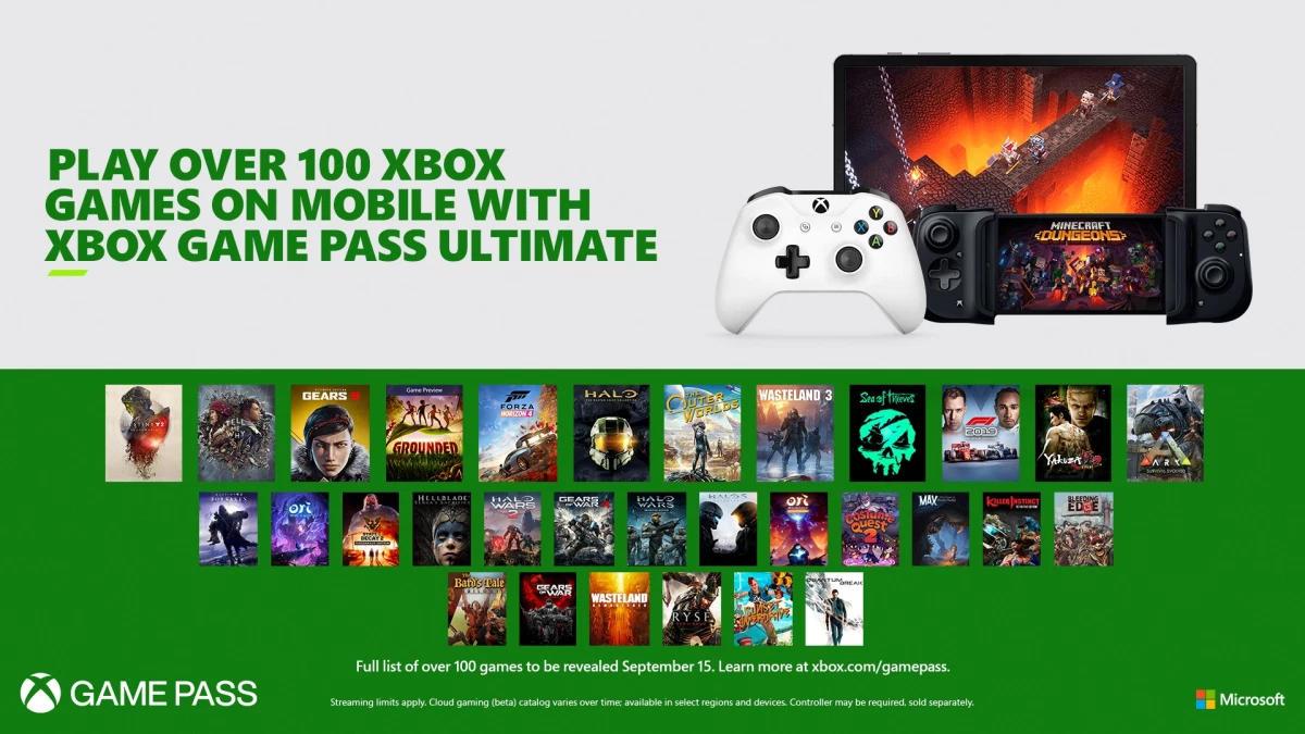 Xbox Game Pass Ultimate - Spiele auf Smartphone und Tablet streamen