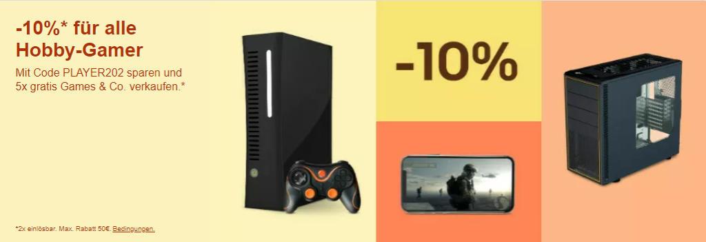 Gaming-Freuden: 10% Rabatt mit dem Gutschein PLAYER202 bei eBay