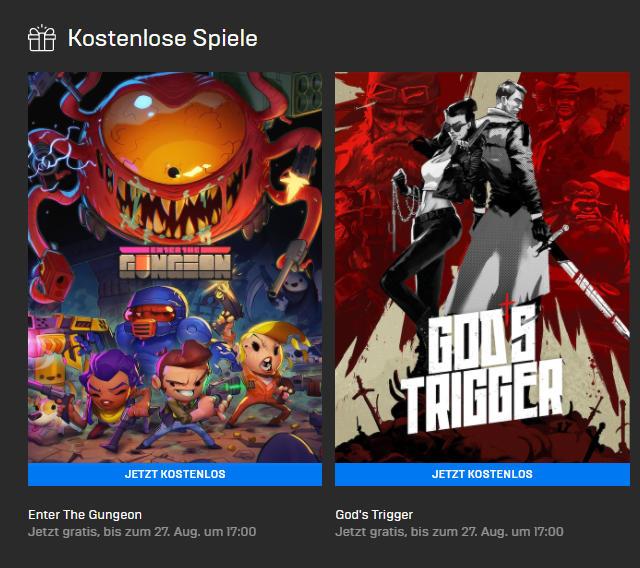 PC-Games kostenlos - Enter the Gungeon (Win/Mac) und God's Trigger (Win) gratis bis zum 27.08.