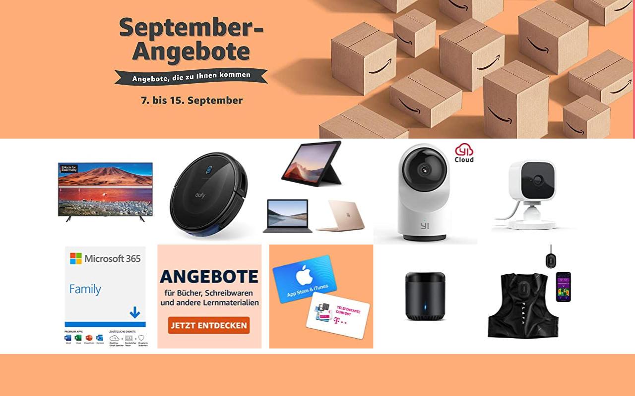September-Angebote bei amazon.de - Tagesangebote und Blitzangebote - Tag 1