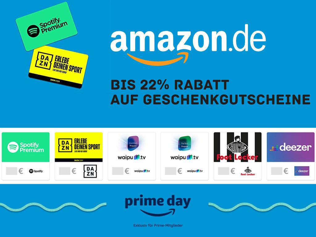 Amazon - Geschenkgutscheine anderer Marken - bis zu 22% Rabatt