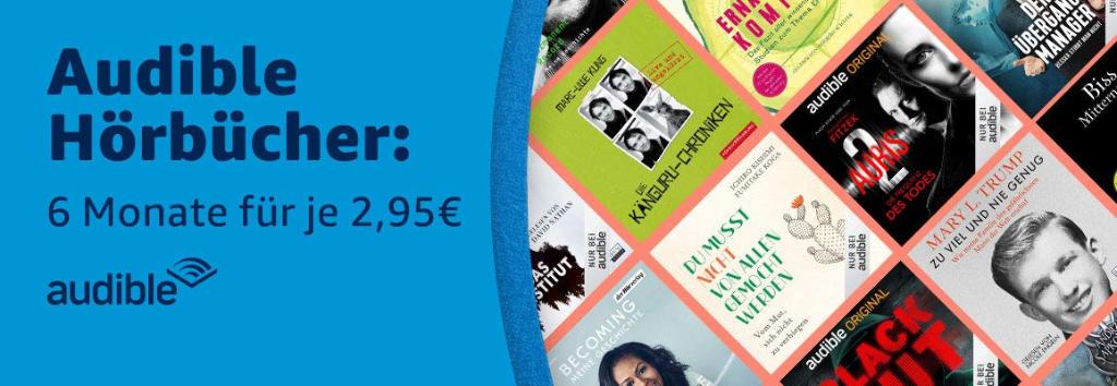 Audible Hörbücher günstiger - 2,95 € im Monat zum Prime Day