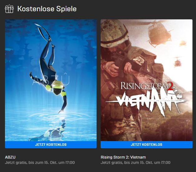 PC-Games kostenlos - ABZU und Rising Storm 2: Vietnam kostenlos bis zum 15.10.