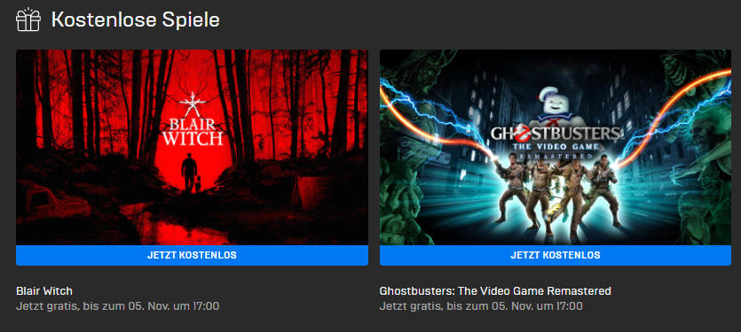 PC-Games kostenlos - Windows - Blair Witch und Ghostbusters: The Video Game Remastered kostenlos bis zum 05.11..