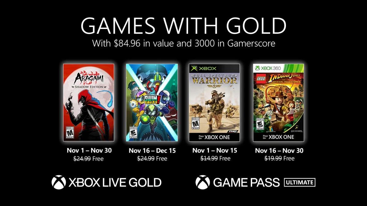 Monatlich kostenlose Spiele mit Xbox Live Gold und Xbox Game Pass Ultimate - November 2020