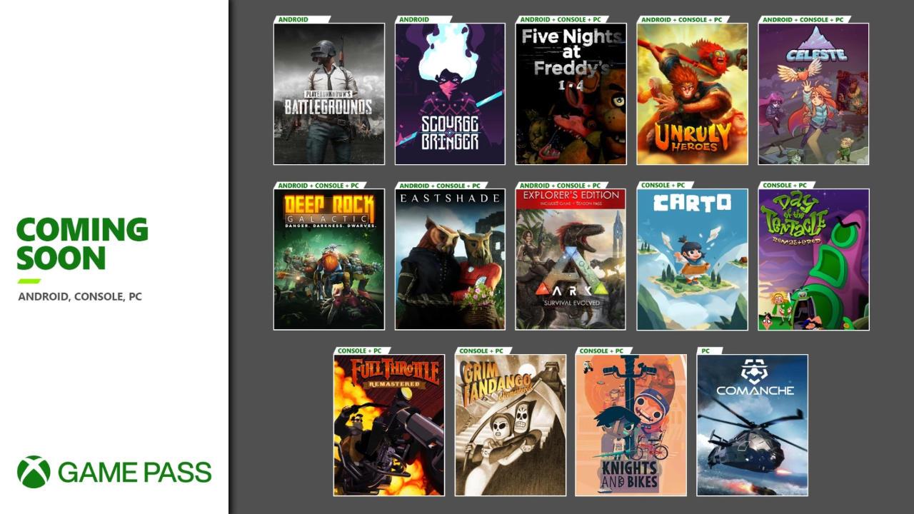 Xbox Game Pass - Weitere neue Spiele im Oktober und November für die Xbox One Konsole, Android/Cloud und den PC