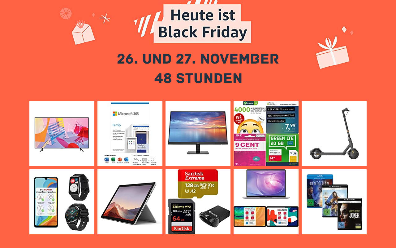Amazon Black Friday Woche - Tag 7 / Tag 1 der 48 Stunden Black Friday - Schnäppchen Angebote Warehouse Deals und mehr