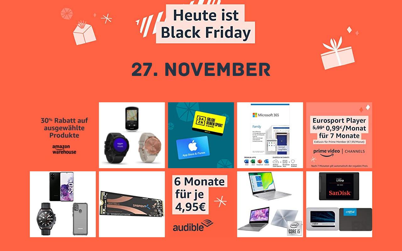 Amazon Black Friday Woche - Tag 7 / Tag 2 der 48 Stunden Black Friday - Schnäppchen Angebote Warehouse Deals und mehr