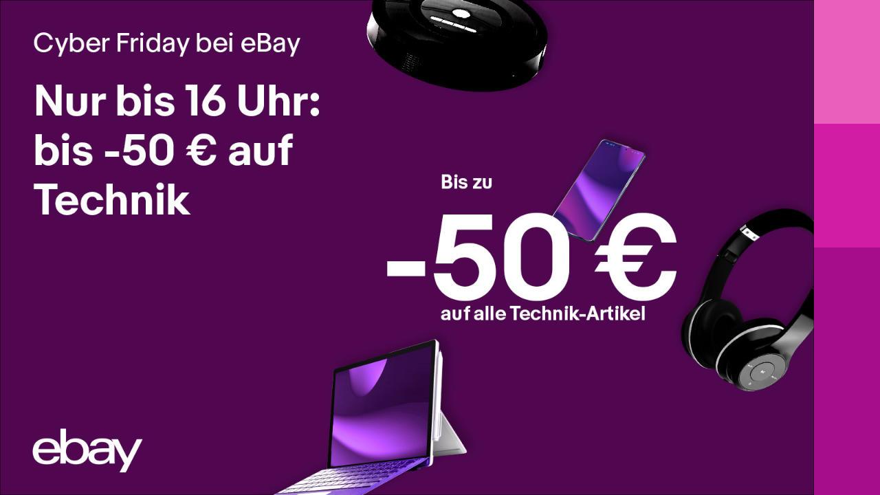Cyber Friday bei eBay - Gutschein 50 Euro sparen