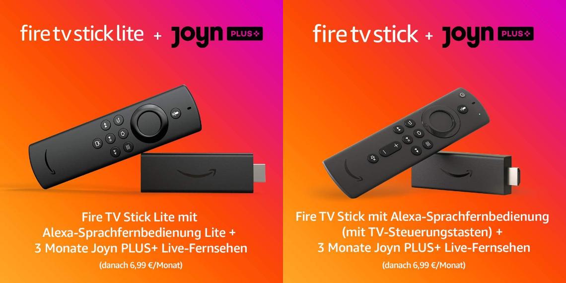 Fire TV Stick unter 20 € mit Joyn Plus+ für 3 Monate - Schnäppchen