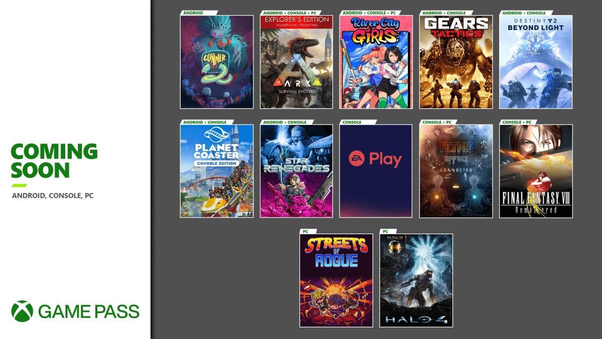 Xbox Game Pass - Weitere neue Spiele im November für die Xbox One / Series X und S Konsolen, Android/Cloud und den PC