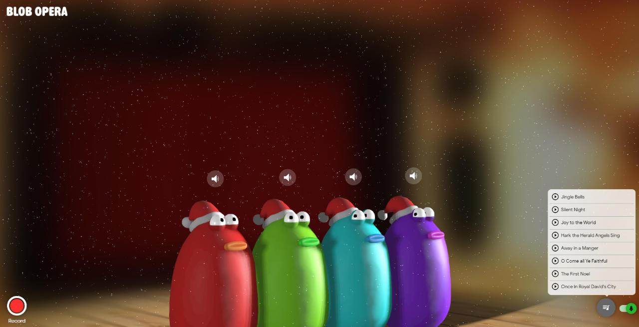 Blob Opera - Niedliche Opersänger reagierien auf Euren Fingerzeig (oder den Mauszeiger)