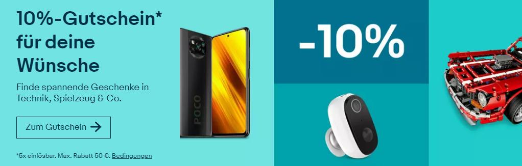10% eBay Gutschein Dezember 2020 - PFIFFIGER - Smartphones, Tablet, Gaming und mehr