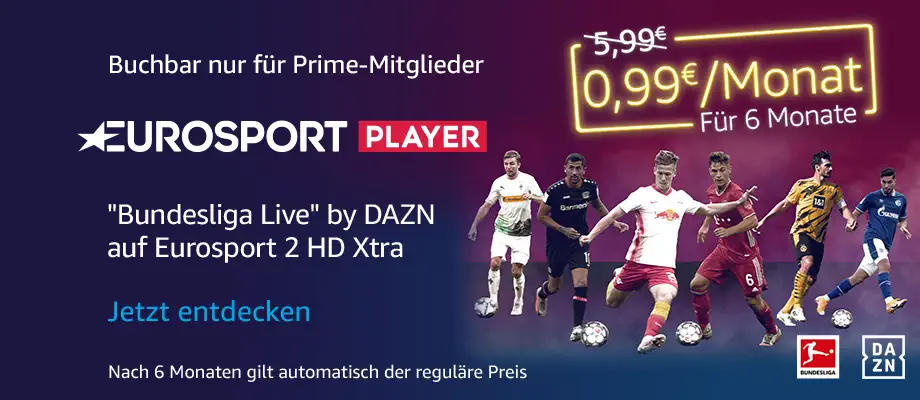 Wintersport und Bundesliga Live mit Eurosport Player bei Prime Video