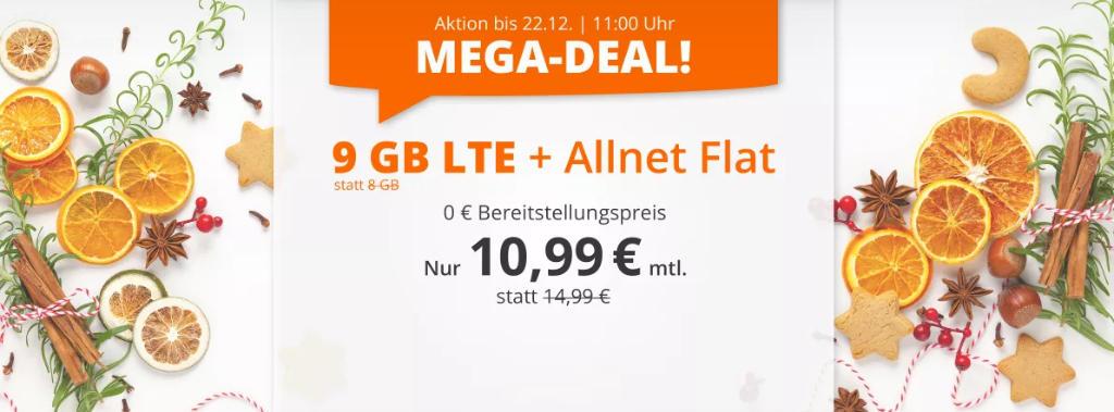 Sim.de - günstige Allnet-Flat mit Telefonie, SMS, 9 GB Datenvolumen LTE inkl. EU Roaming