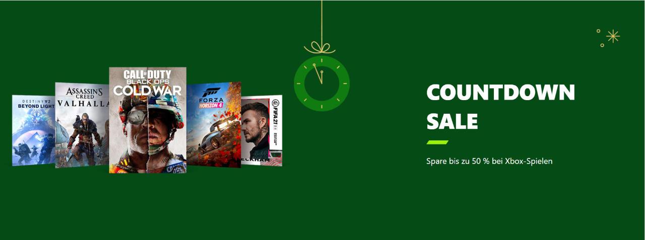 Microsoft Xbox - Countdown Sale - Spiele für Konsolen und PC im Xbox Store günstiger