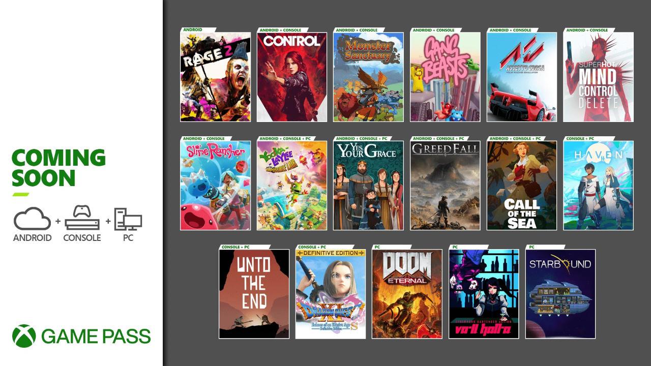 Xbox Game Pass - Neue Spiele im Dezember für die Xbox One / Series X und S Konsolen, Android/Cloud und den PC