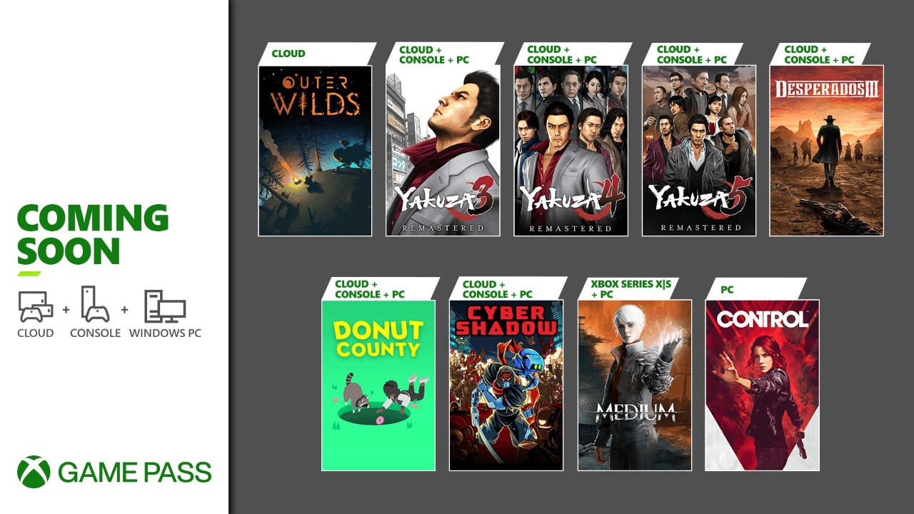 Xbox Game Pass - Neue Spiele Teil 2 im Januar 2021 - Yakuza, Desperados, Control (PC)