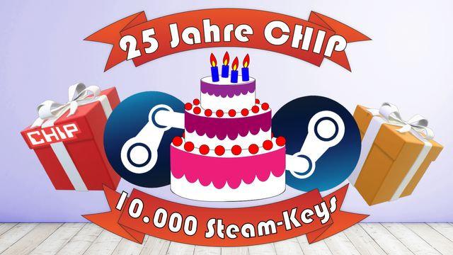 25 Jahre Chip.de - 10.000 Steam-Keys geschenkt - 16 Uhr