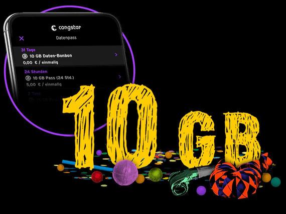 Congstar - 10 GB Datenvolumen geschenkt - Karneval 2021