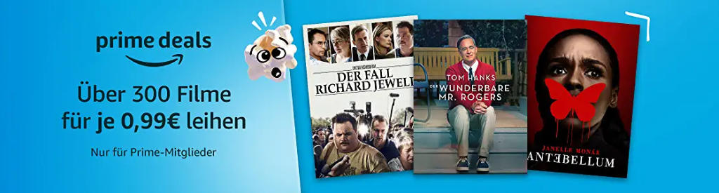 Über 300 Filme für je 99 Cent ausleihen - Popcorn-Woche bei amazon.de - Heimkino Schnäppchen