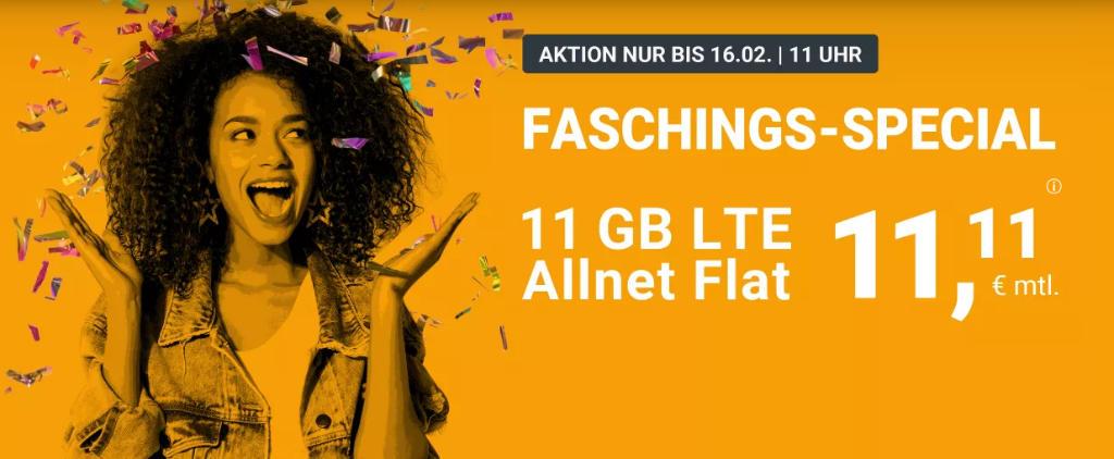 WinSim - günstige Allnet-Flat mit Telefonie, SMS, 11 GB Datenvolumen LTE inkl. EU Roaming