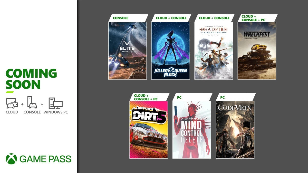 Xbox Game Pass - Neue Spiele Teil 2 im Februar 2021 - Dirt 5, Wreckdest, Elite Dangerous, Superhot Mind Control Delete
