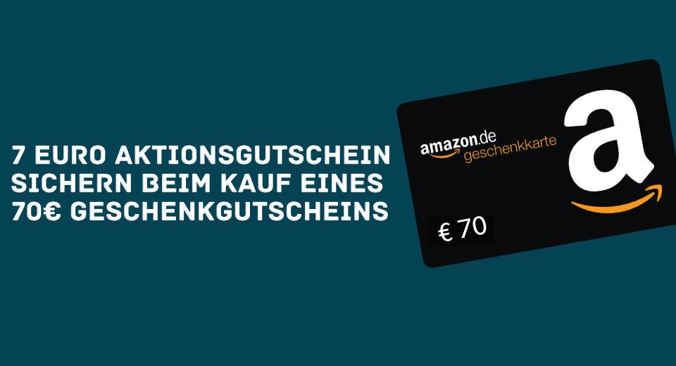 7 Euro Amazon Gutschein April 2021 - Amazon Gutscheine günstiger