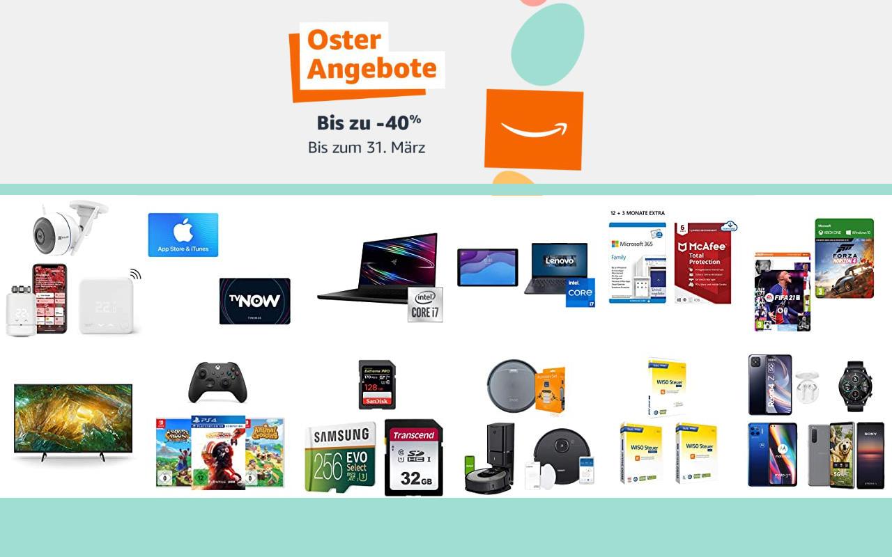 Amazon Osterangebote 2021 - bis zu 40% Rabatt - Angebote, Aktionen und Gutscheine - Tag 10