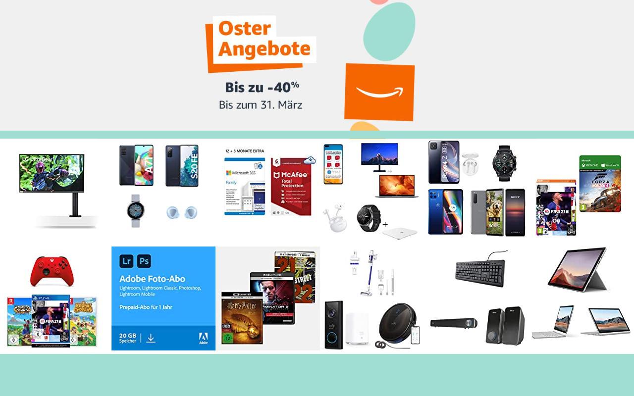 Amazon Osterangebote 2021 - bis zu 40% Rabatt - Angebote, Aktionen und Gutscheine - Tag 2