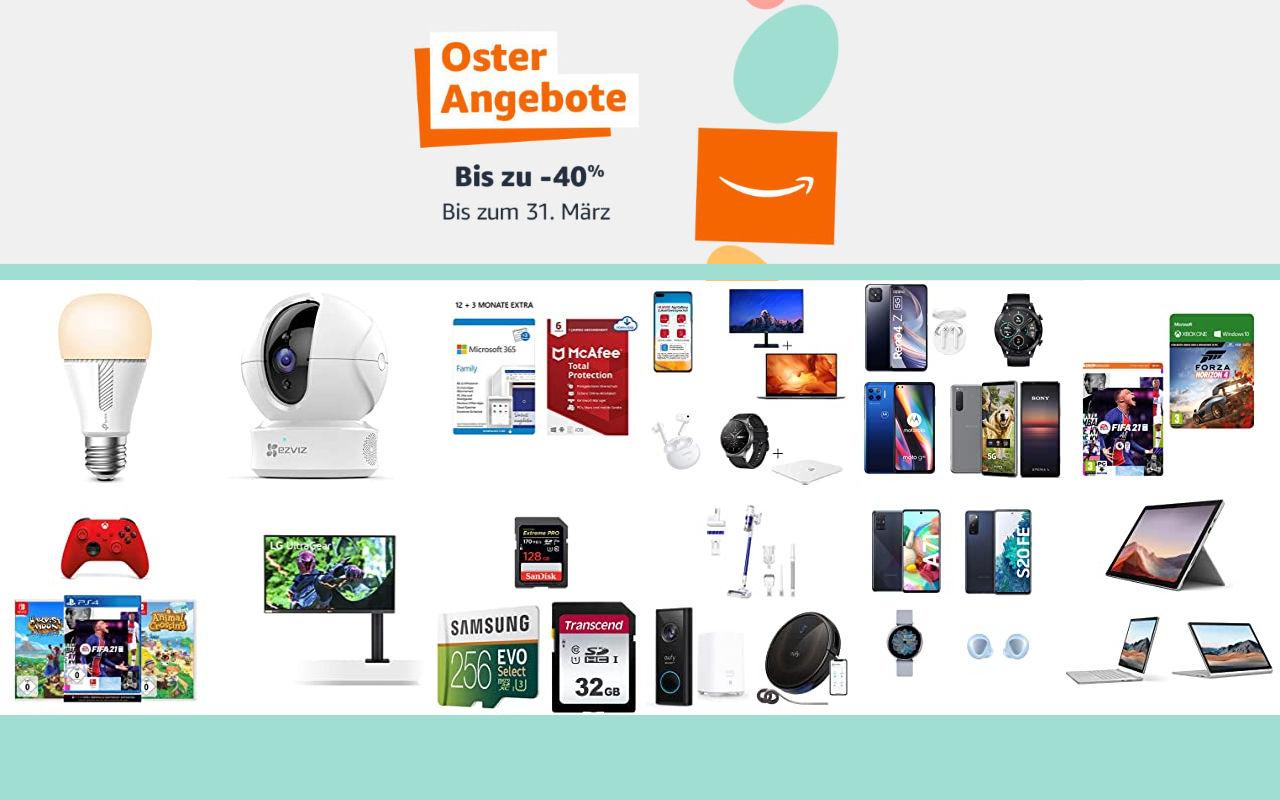 Amazon Osterangebote 2021 - bis zu 40% Rabatt - Angebote, Aktionen und Gutscheine - Tag 3