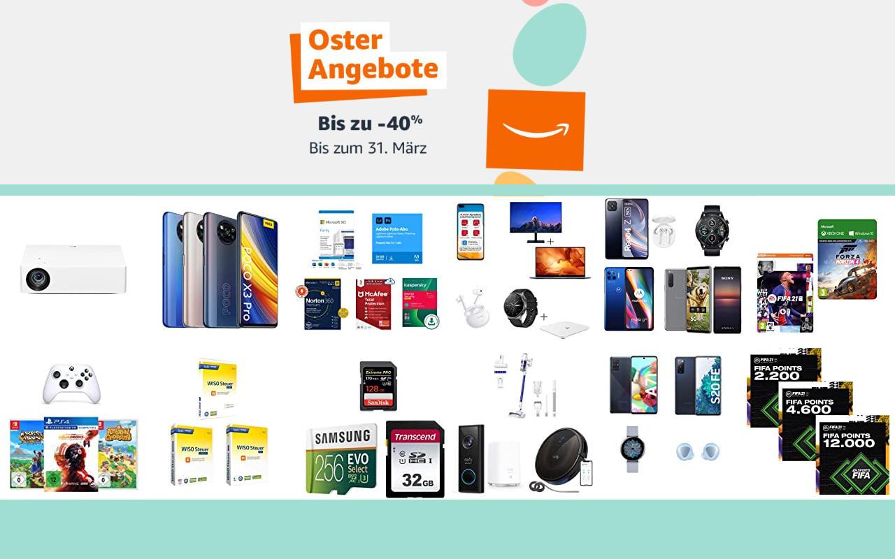 Amazon Osterangebote 2021 - bis zu 40% Rabatt - Angebote, Aktionen und Gutscheine - Tag 6