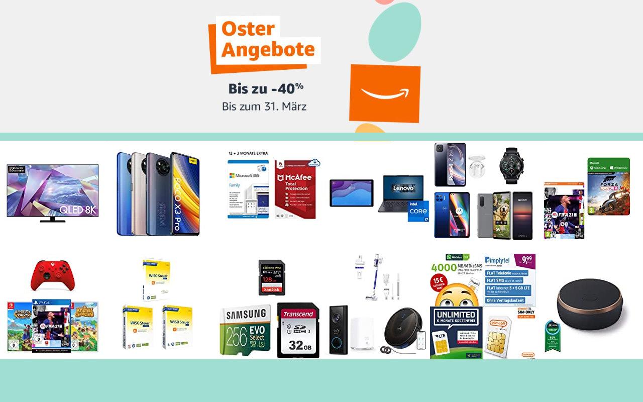 Amazon Osterangebote 2021 - bis zu 40% Rabatt - Angebote, Aktionen und Gutscheine - Tag 7