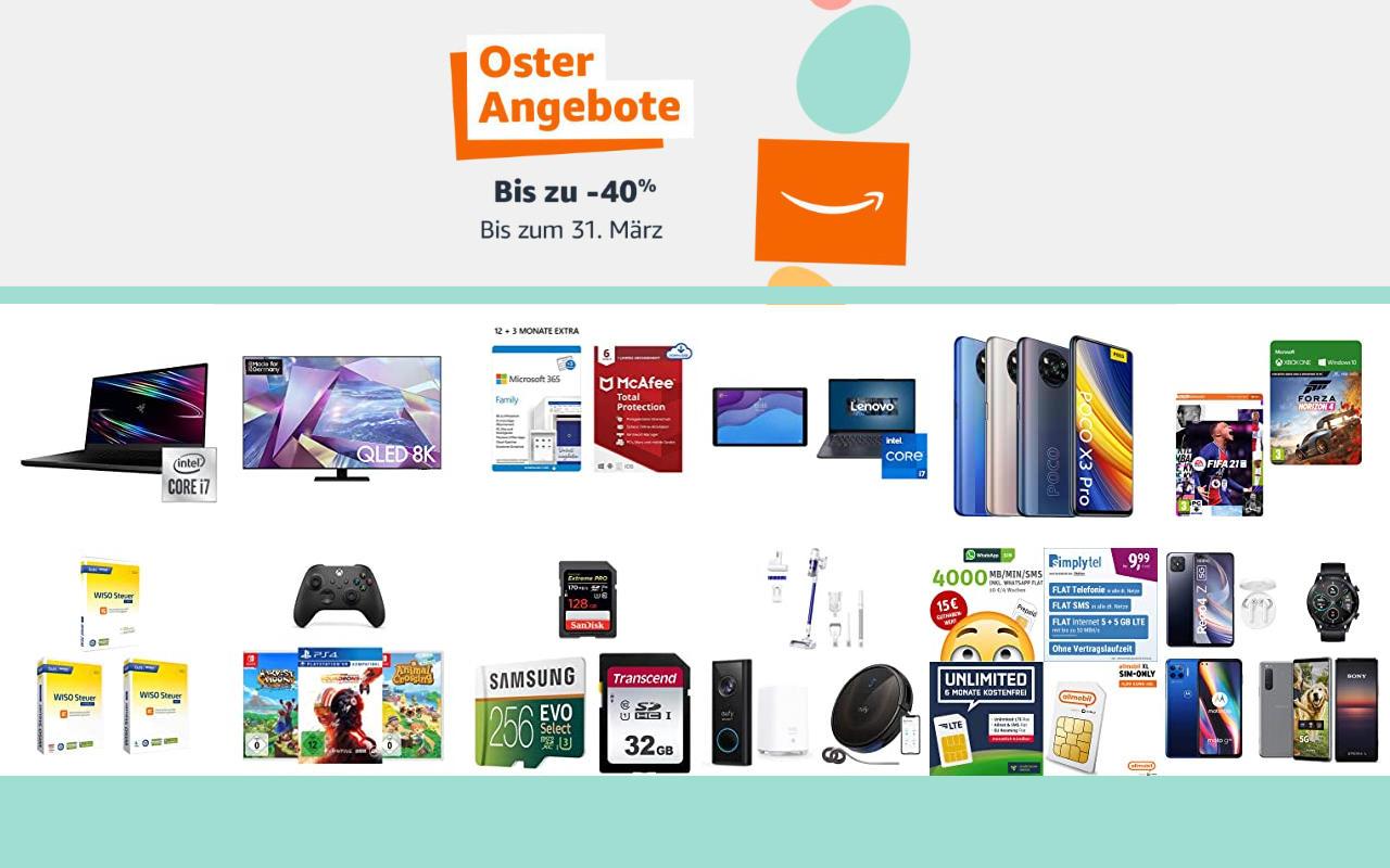 Amazon Osterangebote 2021 - bis zu 40% Rabatt - Angebote, Aktionen und Gutscheine - Tag 8