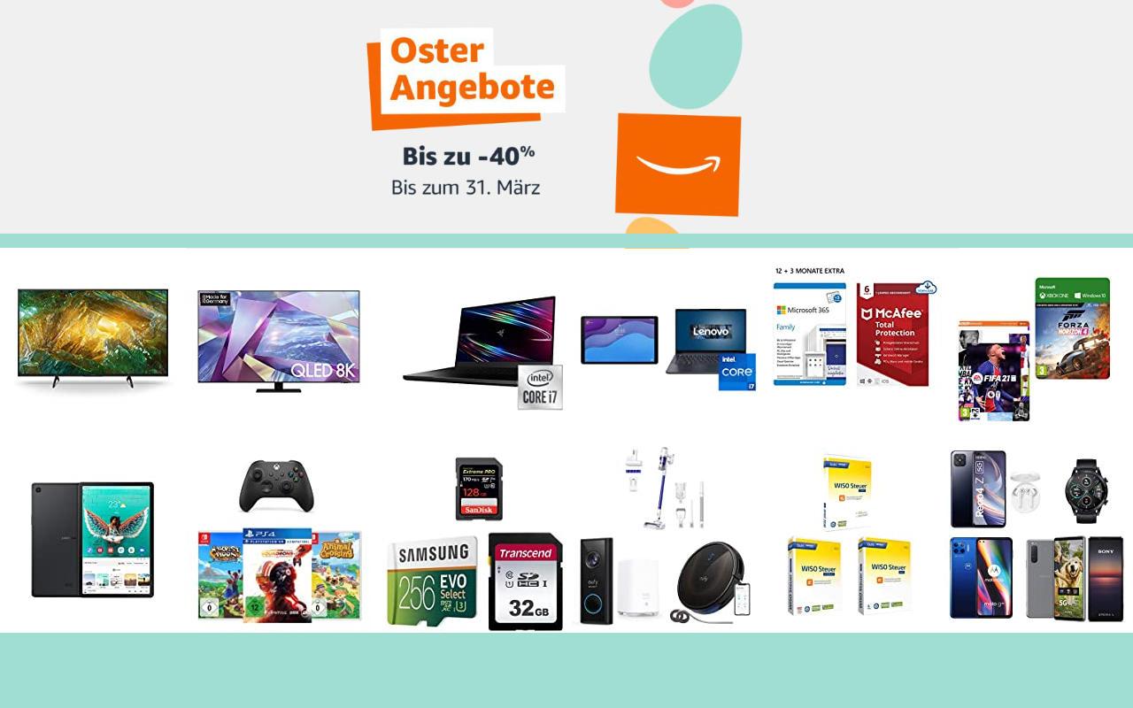 Amazon Osterangebote 2021 - bis zu 40% Rabatt - Angebote, Aktionen und Gutscheine - Tag 9
