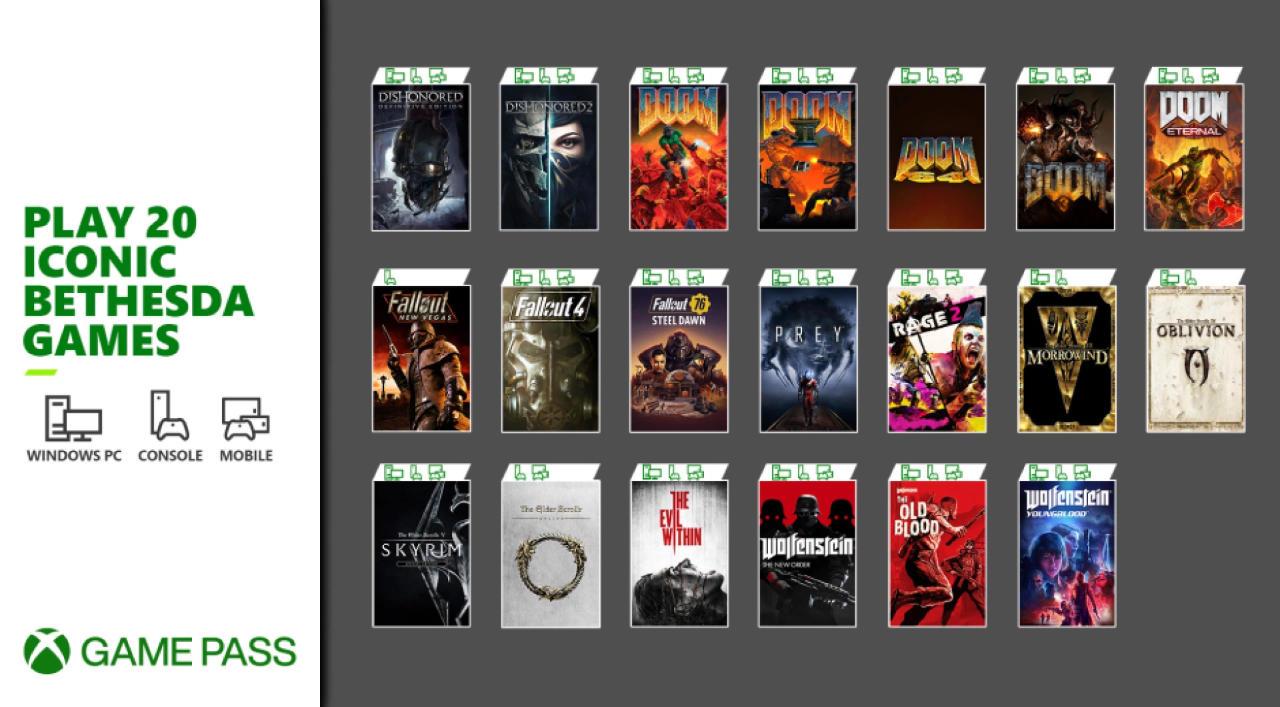 Xbox Game Pass - 20 neue Bethesda Games im Xbox Game Pass - März 2021