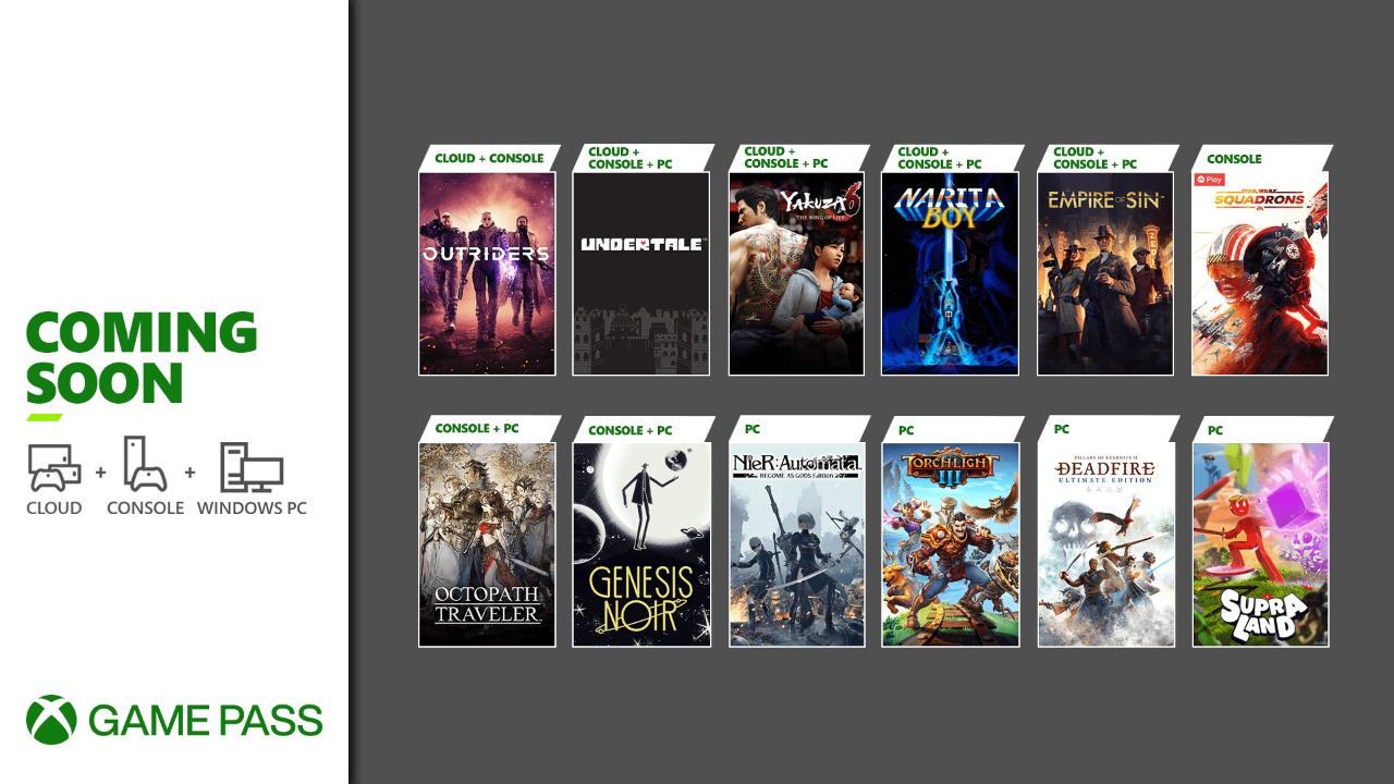 Xbox Game Pass - Neue Spiele Teil 2 im März 2021 -Outriders, Star Wars Squadrons, Octopath Traveler, Empire of Sin