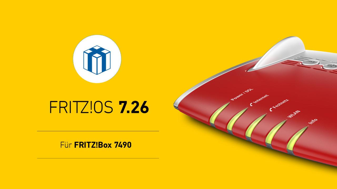 FRITZ!Box 7490 bekommt Update auf FRITZ!OS 7.26 - Neue Features fürs Homeoffice und mehr - April 2021