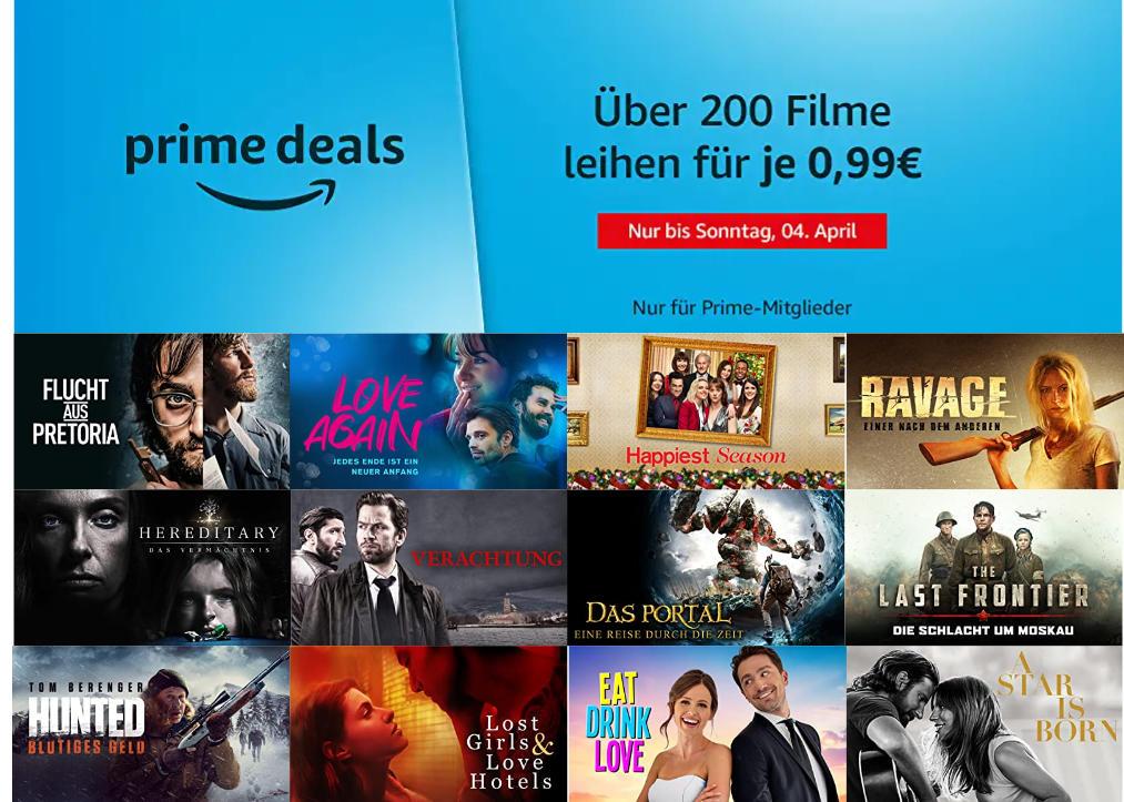 Über 200 Filme für je 99 Cent ausleihen - Ostern bei amazon.de - Heimkino Schnäppchen