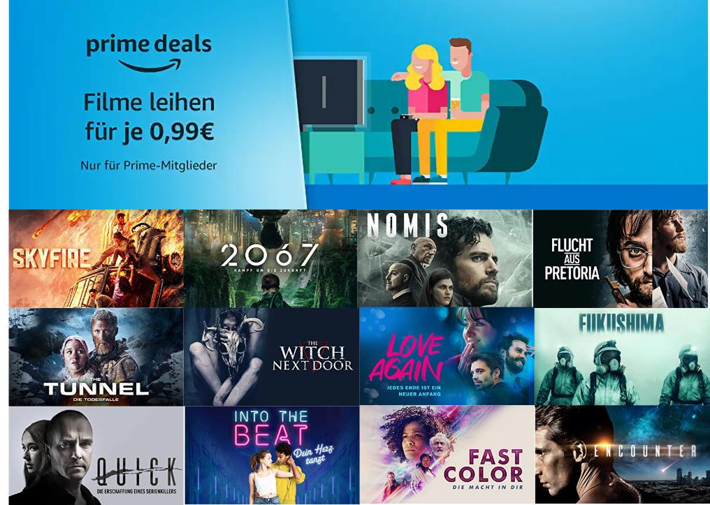 Über 150 Filme für je 99 Cent ausleihen - April bei amazon.de - Heimkino Schnäppchen