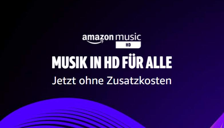 Amazon Music HD für alle Abonnenten ohne Aufpreis