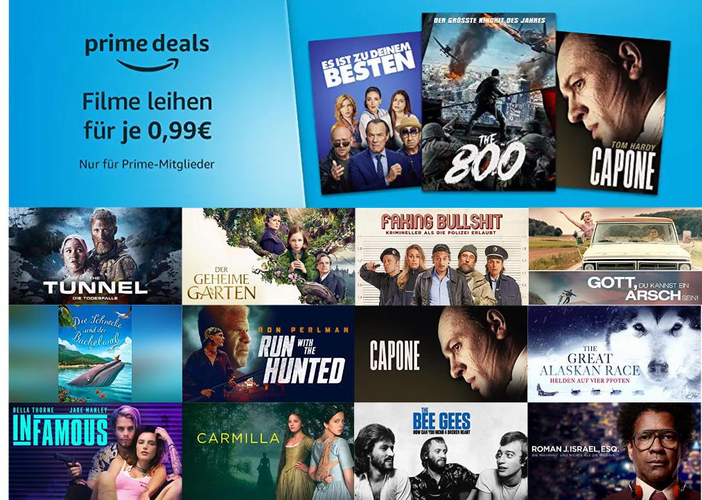 Über 50 Filme für je 99 Cent ausleihen - Mai bei amazon.de - Heimkino Schnäppchen