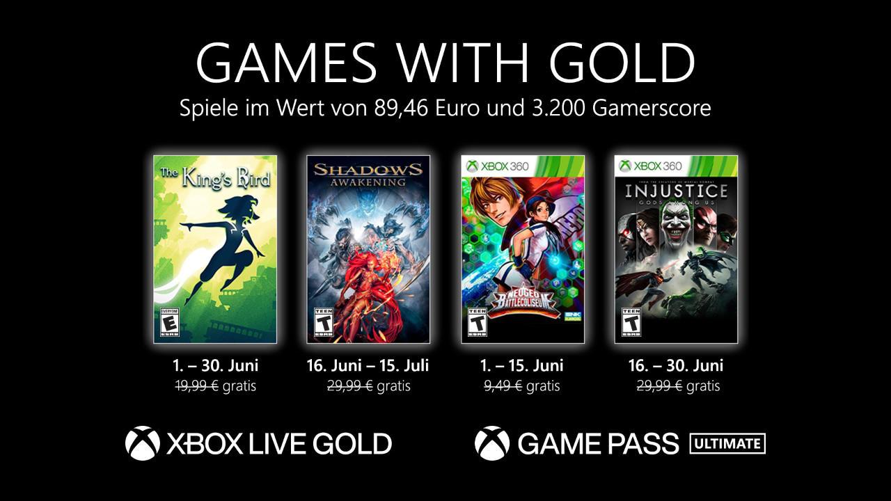 Monatlich kostenlose Spiele mit Xbox Live Gold und Xbox Game Pass Ultimate - Juni 2021