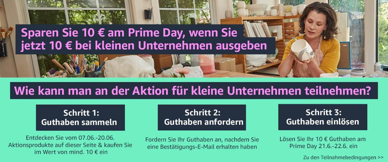 10 Euro Prime Day Guthaben - Amazon Gutschein - Juni 2021