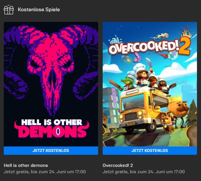 Overcooked! 2 (Windows) und Hell is Other Demons (Windows/Mac) kostenlos bis 24. Juni - Epic Games Store - Vollversion