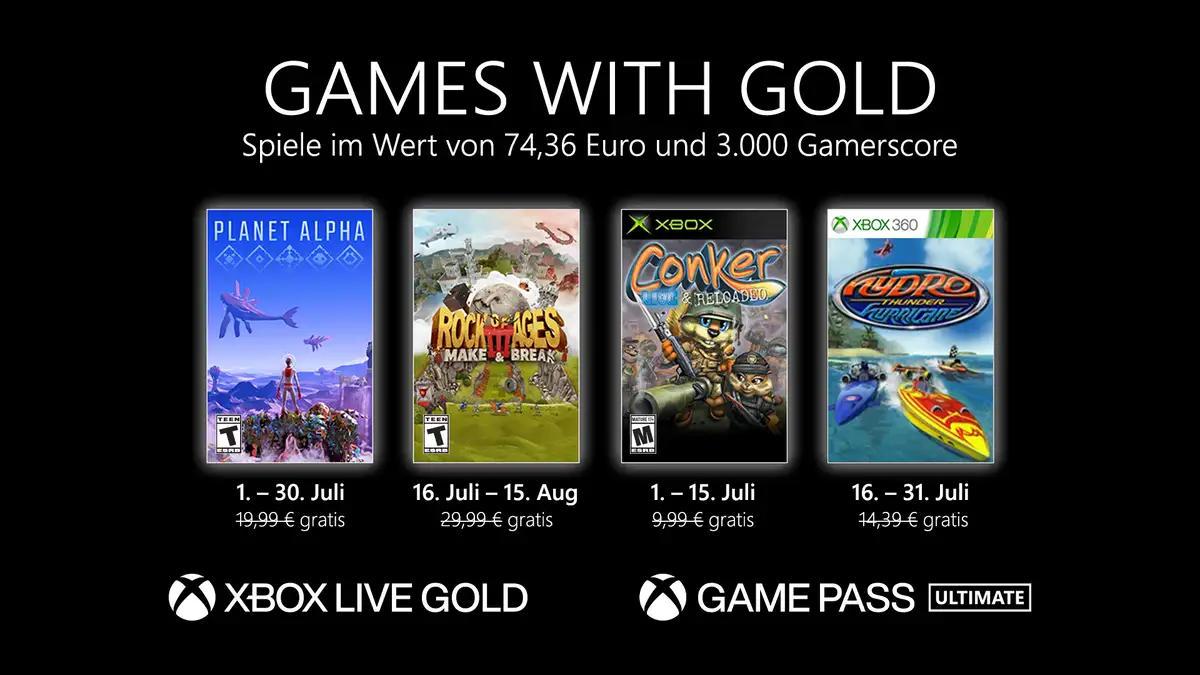 Monatlich kostenlose Spiele mit Xbox Live Gold und Xbox Game Pass Ultimate - Juli 2021