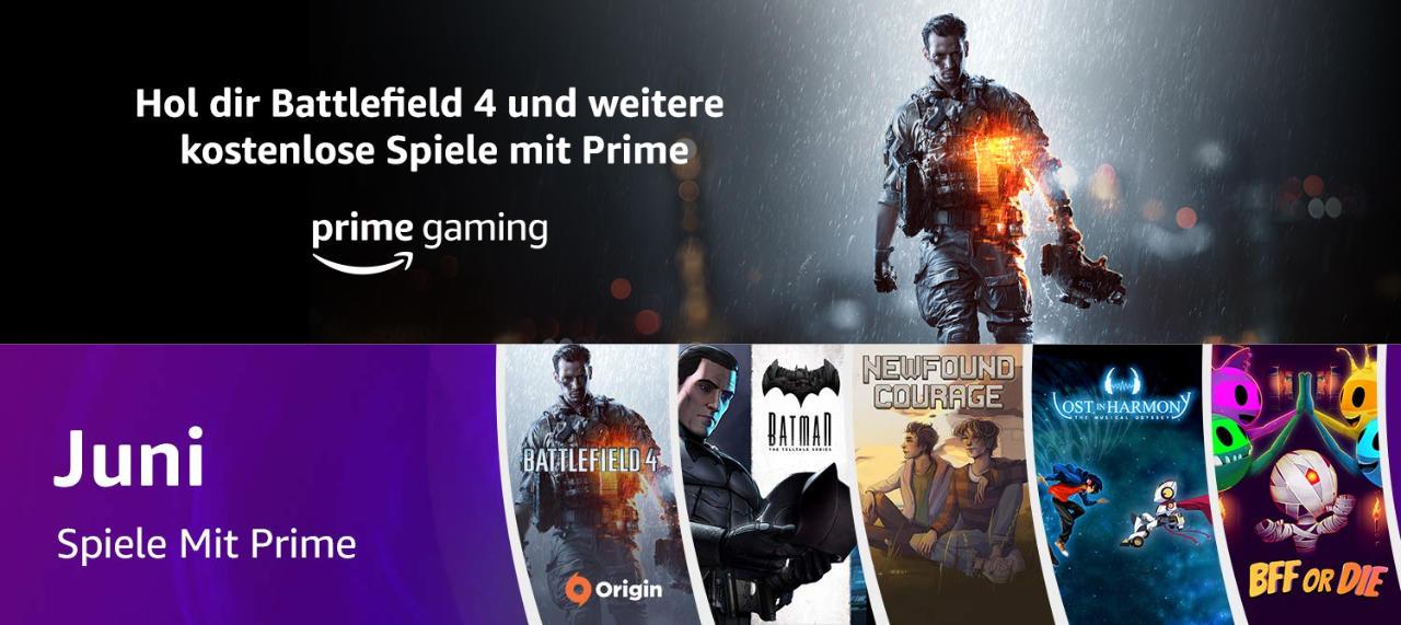 Prime Gaming - jeden Monat 5 kostenlose Computerspiele für Mitglieder - Juni 2021