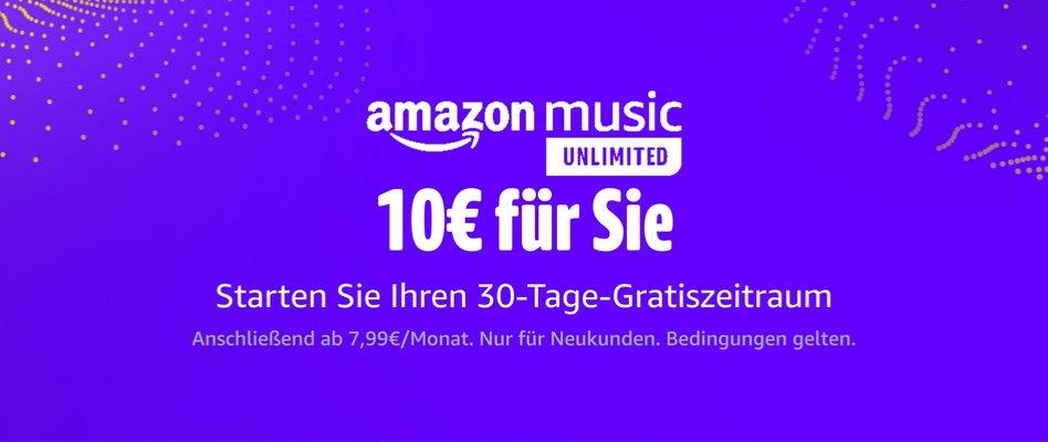 Amazon 10 Euro Gutschein Juli 2021 - Amazon Music Unlimited testen